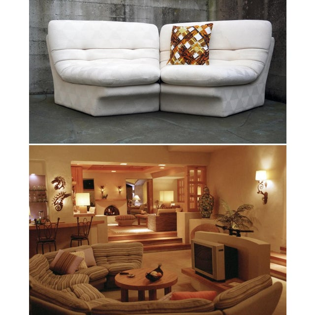 Preview 1970s Vladimir Kagan for Preview 2 Piece Modular Sectional Lounge Chairs - a Pair For Sale - Image 4 of 11