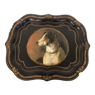 Jack Russell Terrier English Tole Tray