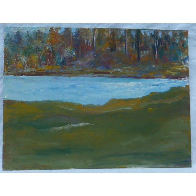 Abstract Impressionist Painting by h.l. Musgrave - Image 2 of 6