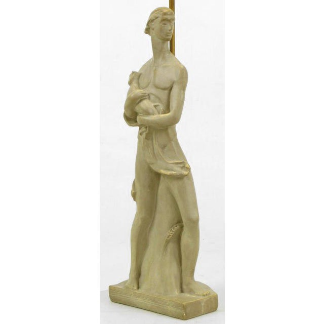 1940s Egyptian Figure Table Lamp by Chapman For Sale - Image 5 of 11