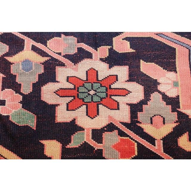 Boho Chic Large Vintage Persian Silk Heriz Rug - 13′1″ × 19′ For Sale - Image 3 of 11