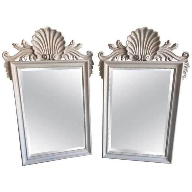 Hollywood Regency Labarge Wall or Console Mirrors, Italian - a Pair For Sale - Image 13 of 13