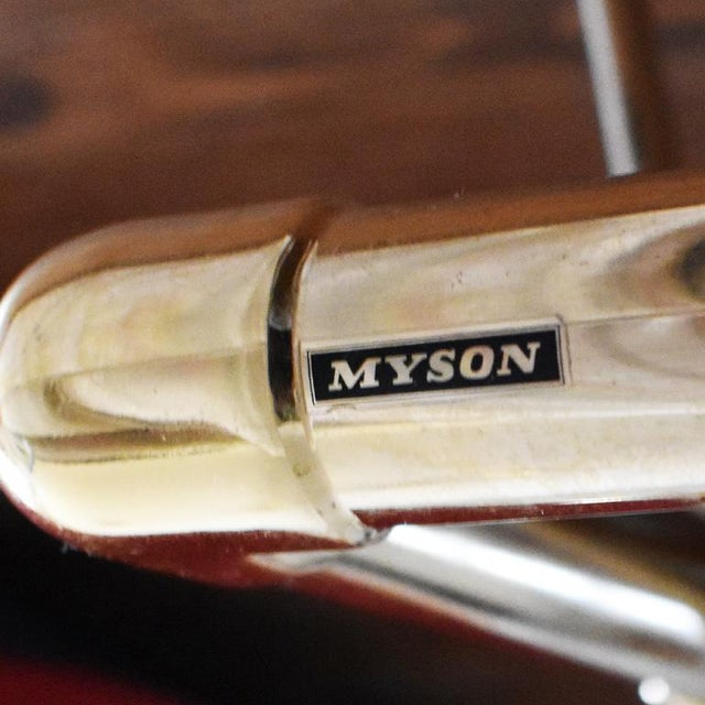 English Vintage Bathroom Towel Warmer in Gold by Myson For Sale - Image 3 of 5
