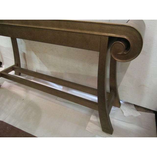 Aged Bronze Finish Console by Century Furniture - Image 7 of 8