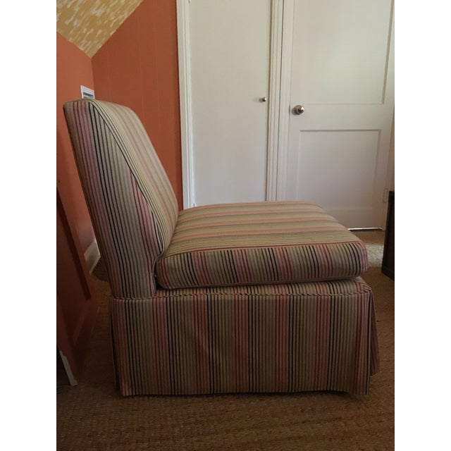 Stripped High Back Slipper Chair - Image 7 of 7