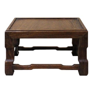 Chinese Brown Wood Square Table Top Stand Display Easel For Sale