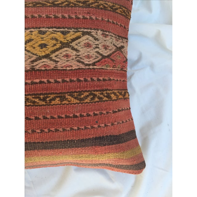 Southwestern Woven Kilim Striped Pillow For Sale In Los Angeles - Image 6 of 7