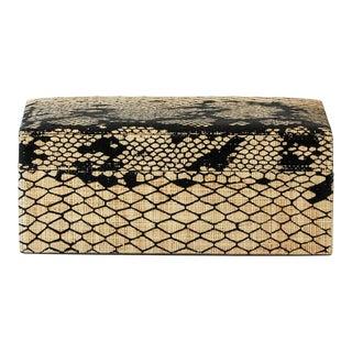 Made Goods Raffia Snake Print Box