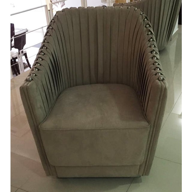 Cavalli Style Ultrasuede Chair - Image 5 of 5