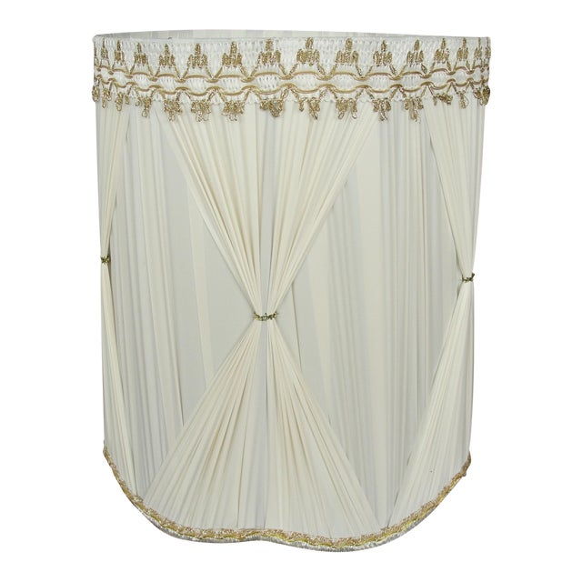 Vintage Mid-Century Modern Cloth Lamp Shade - Image 1 of 6