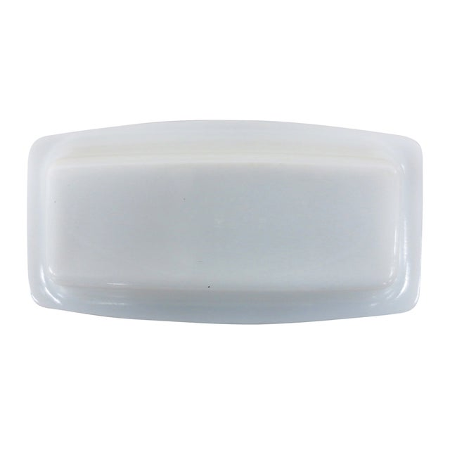 Pyrex Vintage Milk Glass Covered Butter Dish - Image 5 of 7