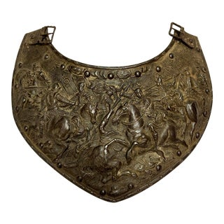 European Renaissance Style Armour Gorget, Viollet Le Duc Period For Sale