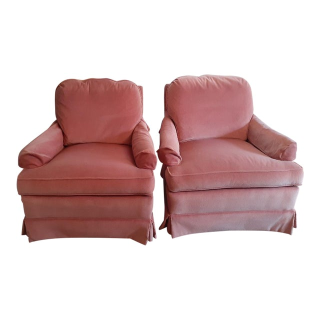 Drexel Heritage Frederick Edward Distictive Seating Club Chairs - A Pair For Sale