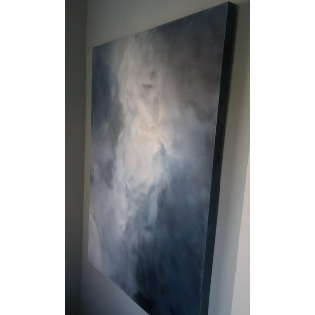 "Kris Gould ""Whispering Clouds"" Original Abstract Painting - Image 5 of 5"