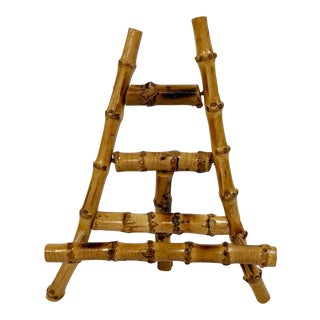 Burnt Bamboo Table Easel For Sale