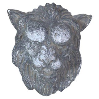 French Zinc Lion's Heads For Sale