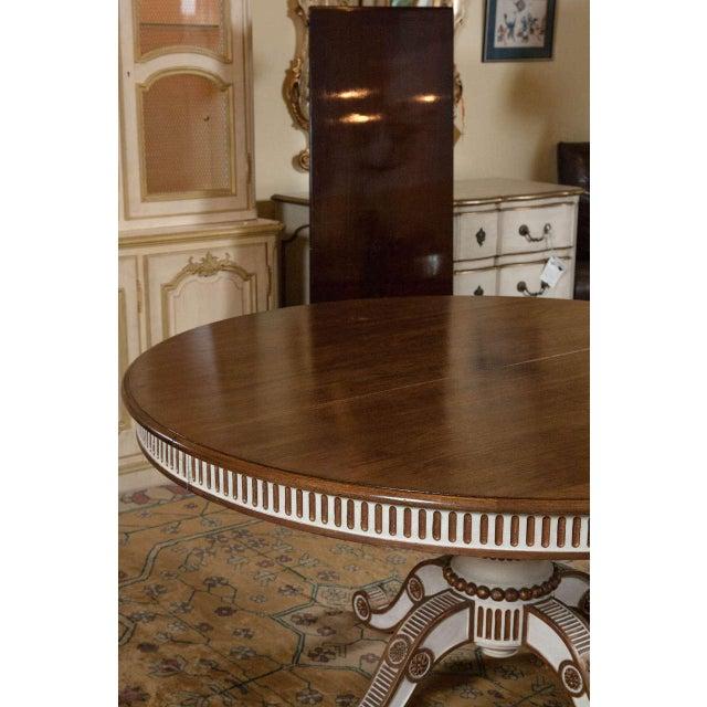 Swedish Mahogany Top Dining Table - Image 7 of 7