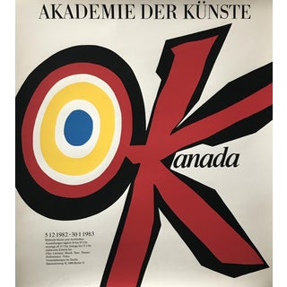 Original 1983 Vittorio Poster, Akademie Der Künste, Signed and Dated For Sale