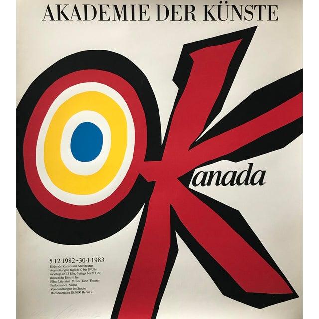 Original 1983 Vittorio Poster, Akademie Der Künste, Signed and Dated For Sale