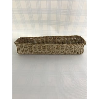 Antique French Wicker Bread Basket Preview