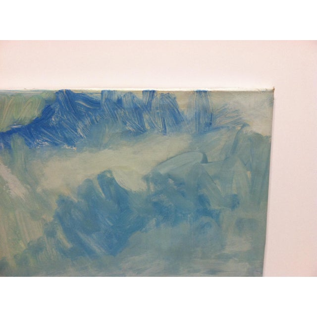 "Contemporary 1960s Vintage Frederick McDuff ""Blue Sky"" Signed Painting on Canvas For Sale - Image 3 of 7"