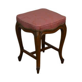 French Louis XV Style Vintage Stool or Small Bench For Sale