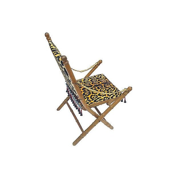 Missoni Home Ambrogina Folding Chair In Printed Satin: Antique Leopard Folding Campaign Chair