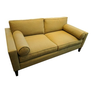 Green Faux-Wool Sofa For Sale