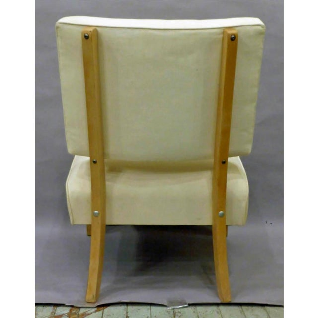 Vintage Mid-Century Slipper Chair For Sale - Image 4 of 6