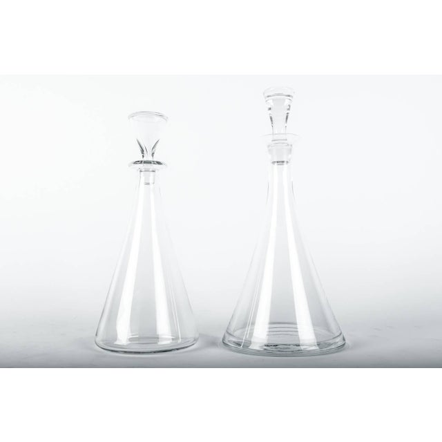 Mid 20th Century Vintage Baccarat Crystal Decanter Set - a Pair For Sale - Image 5 of 10
