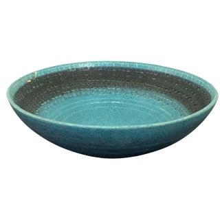 Vintage Italian Raymor Bitossi Pottery Bowl For Sale