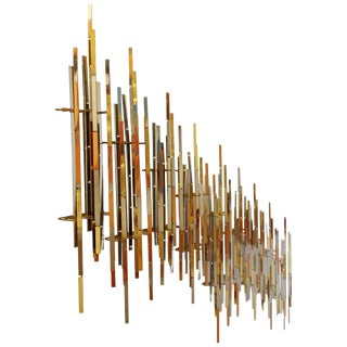 Contemporary Mixed Metal Brutalist Wall Sculptures by r.h. Berger, 1980s - Set of 9 For Sale