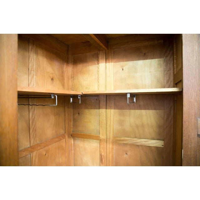 French Art Deco Triple Panel Corner Closet For Sale - Image 4 of 10