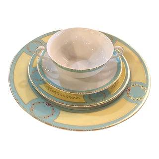 64 Pieces Royal Limoges France Porcelain Dinner Set For Sale