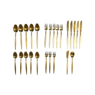 Vintage Gold Plated Flatware For Sale