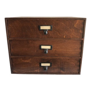 American Classical Rustic Wood Drawer Storage Box