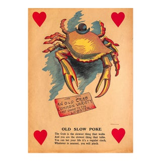 Vinegar Valentine, Old Crab, Sarcasm, Chromolithograph, 1900