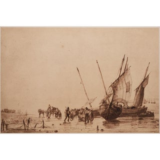 Circa 1959 Richard P. Bonington Coastal Scene Lithograph For Sale