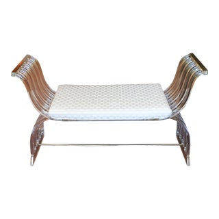 Sculptural Lucite Bench For Sale