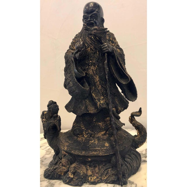 Figurative 18th-19th Century Figure One of the Three Gods of Good Fortune For Sale - Image 3 of 13
