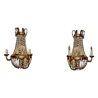 French Style Wall Sconces - A Pair For Sale