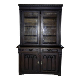 19th Continental Gothic Revival Cabinet For Sale