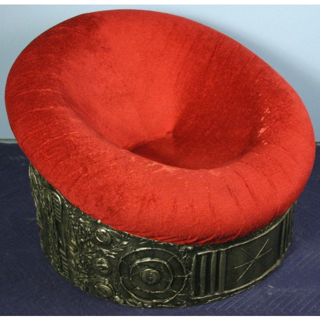 Adrian Pearsall for Craft Brutalist Lounge Chair - Image 2 of 11