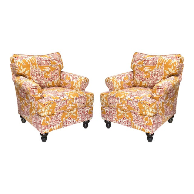 A. Rudin Club Chairs, Down-Filled, Pair For Sale