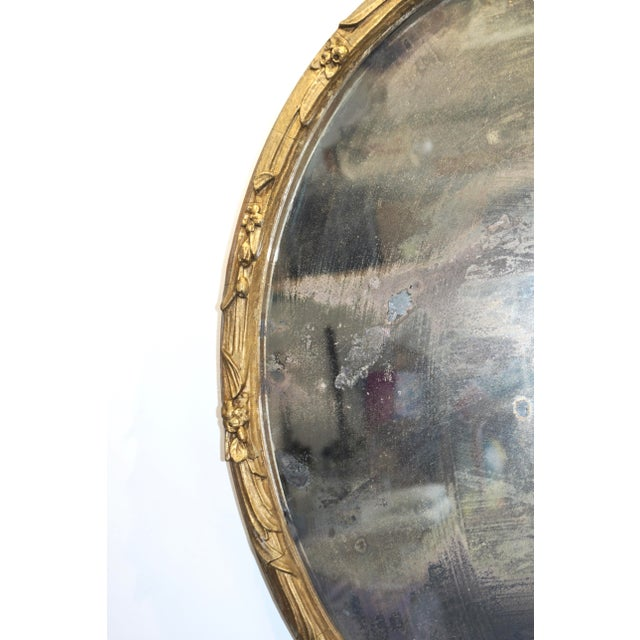 1920s Boho Chic Giltwood Oval Mirror For Sale - Image 5 of 9