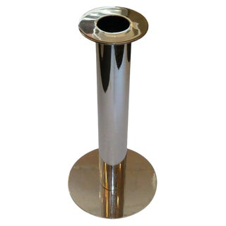 Architectural Italian Modern Chromed Standing Ashtray Ashstand For Sale