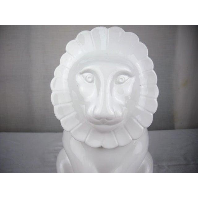Ceramic Vintage Italian Ceramic Lion Lidded Canister For Sale - Image 7 of 11