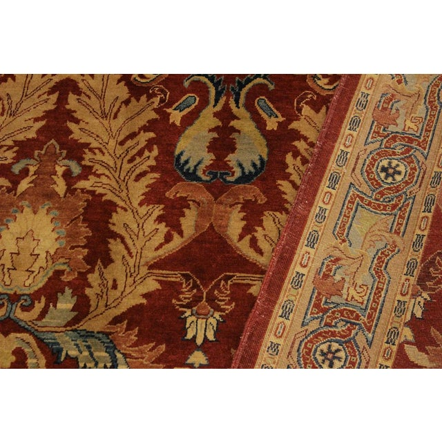 Textile Istanbul Philomen Rust/Tan Turkish Hand-Knotted Rug -4'10 X 6'11 For Sale - Image 7 of 8