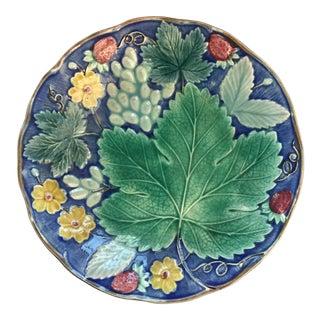 Swedish Majolica Plate For Sale
