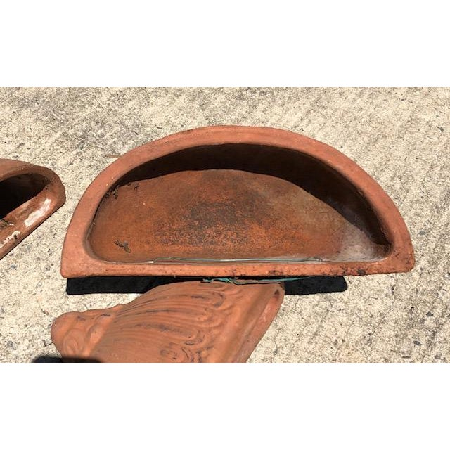 American Terra Cotta Hanging Planters - Set of 4 For Sale - Image 3 of 5